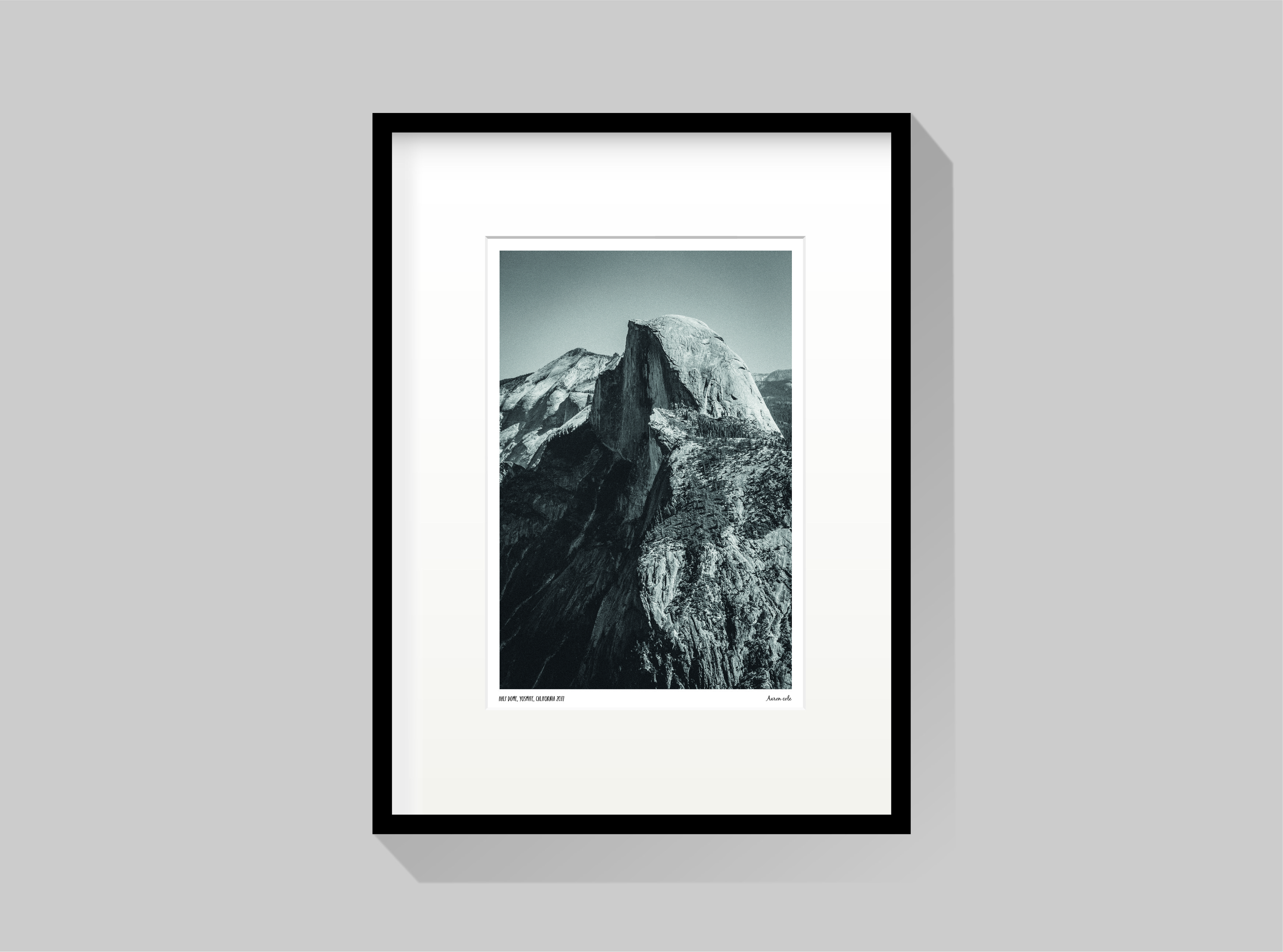 Framed signed photography artwork