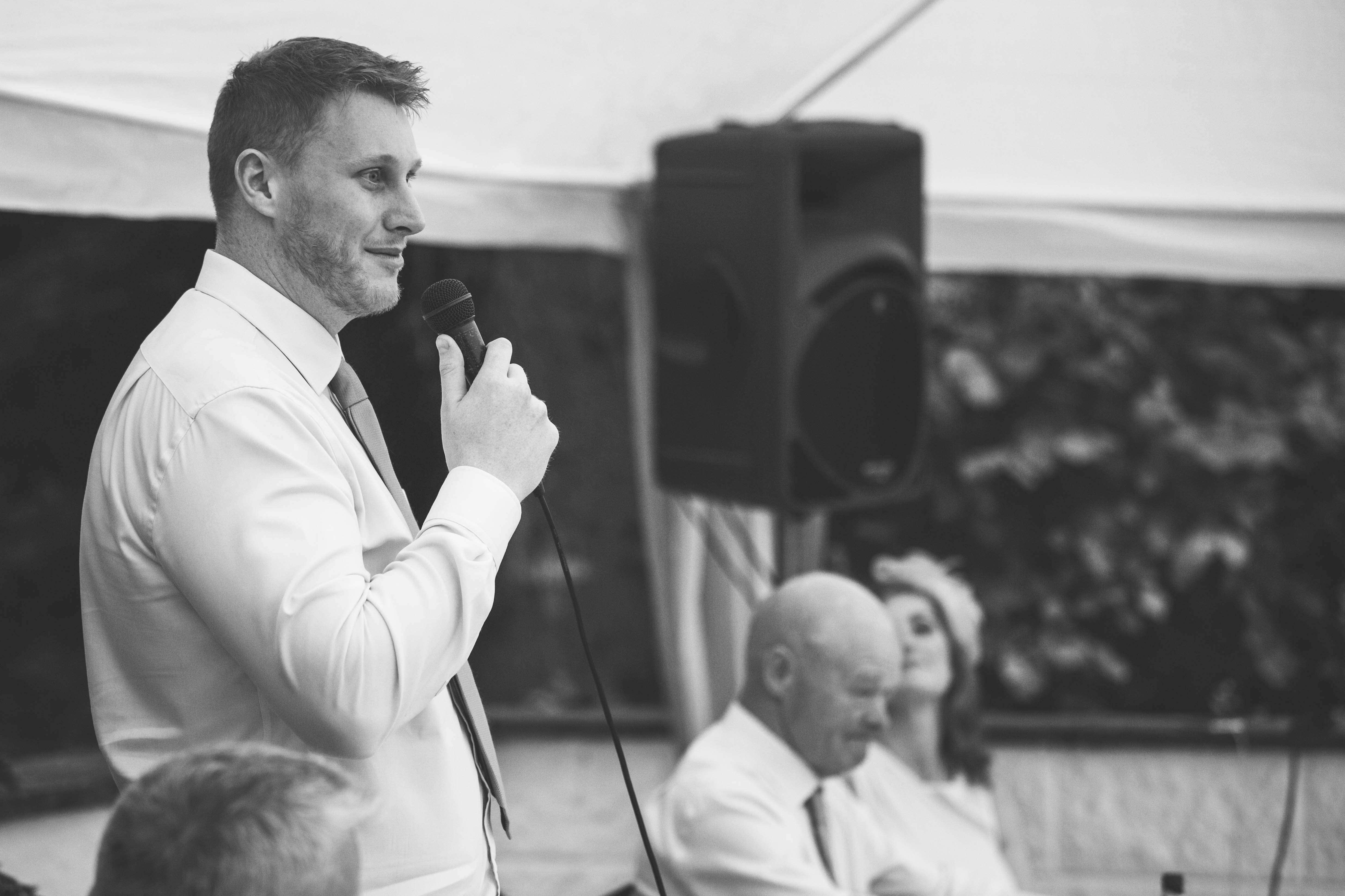 The groom gives his speech at a Birmingham Wedding