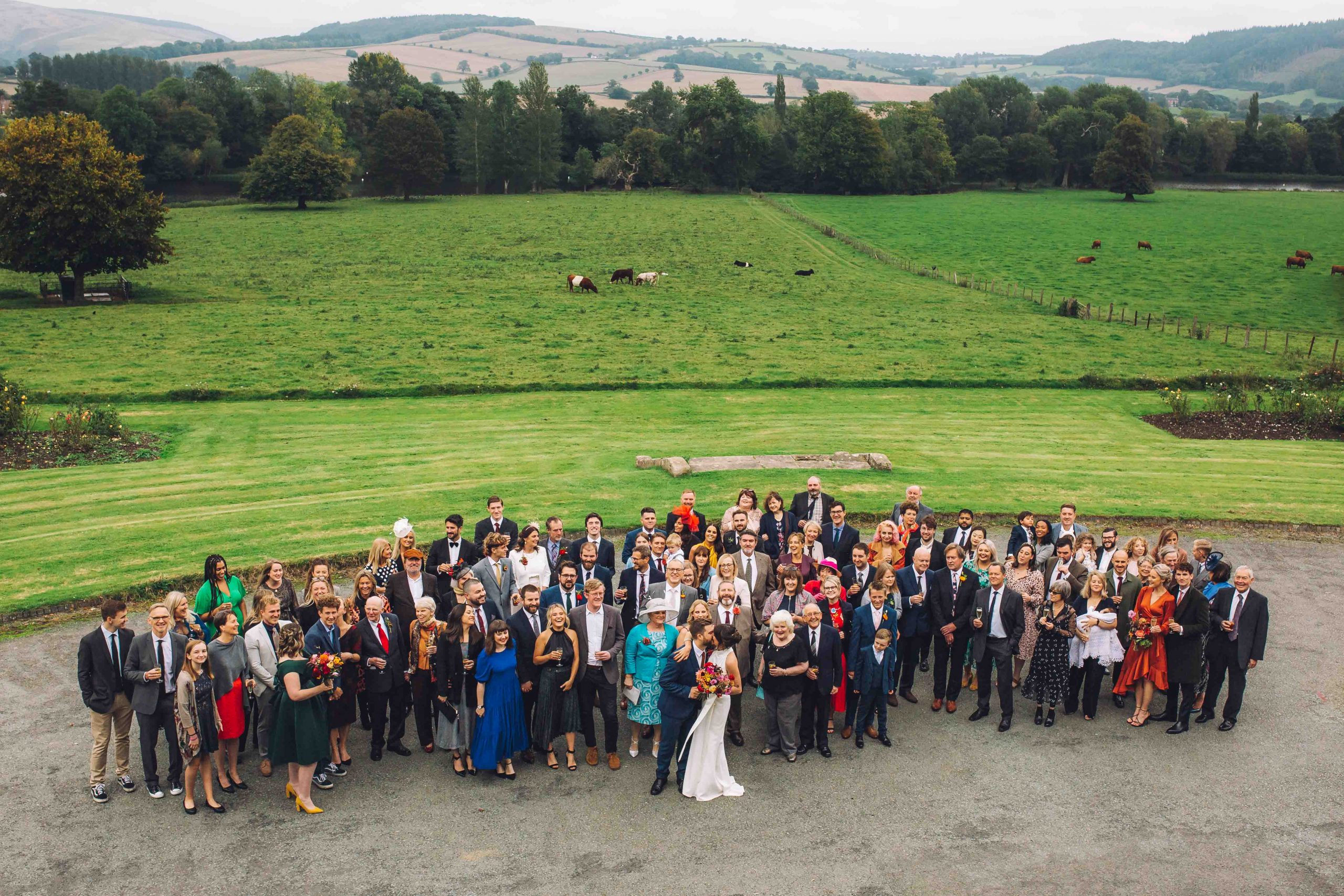 Walcot Hall, Shropshire wedding